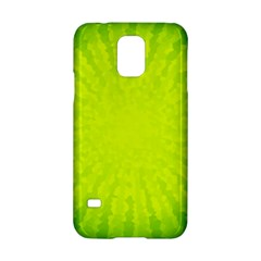 Radial Green Crystals Crystallize Samsung Galaxy S5 Hardshell Case