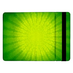Radial Green Crystals Crystallize Samsung Galaxy Tab Pro 12.2  Flip Case