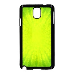 Radial Green Crystals Crystallize Samsung Galaxy Note 3 Neo Hardshell Case (Black)