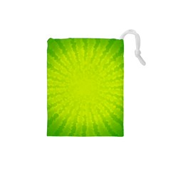 Radial Green Crystals Crystallize Drawstring Pouches (small)