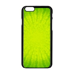Radial Green Crystals Crystallize Apple iPhone 6/6S Black Enamel Case