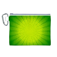 Radial Green Crystals Crystallize Canvas Cosmetic Bag (L)