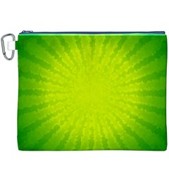 Radial Green Crystals Crystallize Canvas Cosmetic Bag (xxxl)