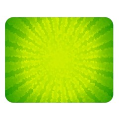 Radial Green Crystals Crystallize Double Sided Flano Blanket (Large)