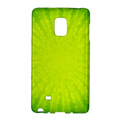 Radial Green Crystals Crystallize Galaxy Note Edge