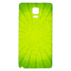 Radial Green Crystals Crystallize Galaxy Note 4 Back Case