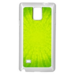 Radial Green Crystals Crystallize Samsung Galaxy Note 4 Case (White)