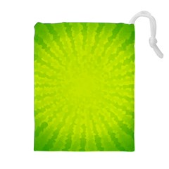 Radial Green Crystals Crystallize Drawstring Pouches (extra Large)
