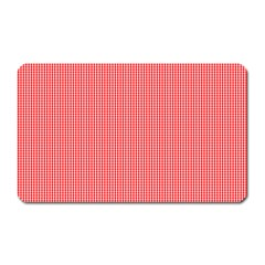 Christmas Red Velvet Mini Gingham Check Plaid Magnet (Rectangular)