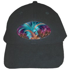 Feather Fractal Artistic Design Black Cap