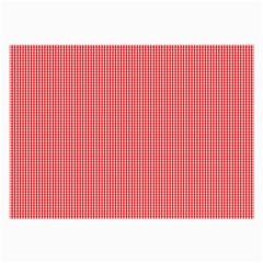 Christmas Red Velvet Mini Gingham Check Plaid Large Glasses Cloth (2-Side)