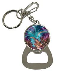 Feather Fractal Artistic Design Button Necklaces
