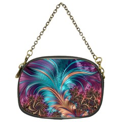 Feather Fractal Artistic Design Chain Purses (Two Sides)