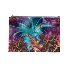 Feather Fractal Artistic Design Cosmetic Bag (Large)