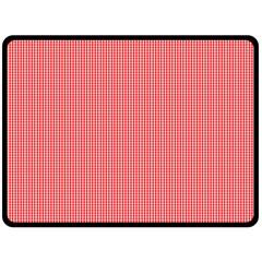 Christmas Red Velvet Mini Gingham Check Plaid Fleece Blanket (Large)
