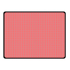 Christmas Red Velvet Mini Gingham Check Plaid Fleece Blanket (Small)