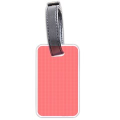 Christmas Red Velvet Mini Gingham Check Plaid Luggage Tags (Two Sides)