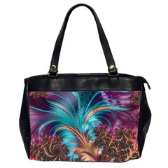 Feather Fractal Artistic Design Office Handbags (2 Sides)