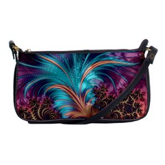 Feather Fractal Artistic Design Shoulder Clutch Bags