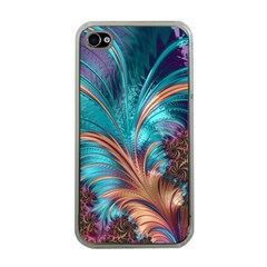 Feather Fractal Artistic Design Apple iPhone 4 Case (Clear)