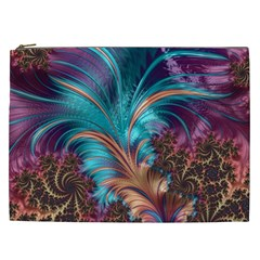 Feather Fractal Artistic Design Cosmetic Bag (XXL)