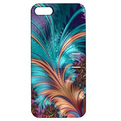 Feather Fractal Artistic Design Apple iPhone 5 Hardshell Case with Stand