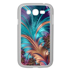 Feather Fractal Artistic Design Samsung Galaxy Grand DUOS I9082 Case (White)