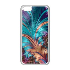 Feather Fractal Artistic Design Apple Iphone 5c Seamless Case (white)
