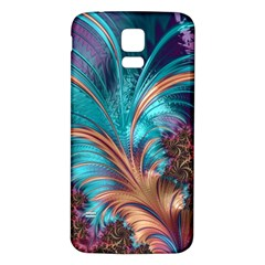 Feather Fractal Artistic Design Samsung Galaxy S5 Back Case (White)