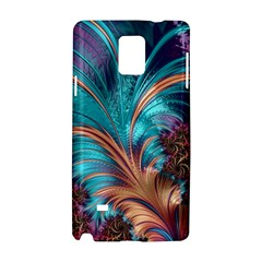 Feather Fractal Artistic Design Samsung Galaxy Note 4 Hardshell Case