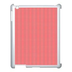 Christmas Red Velvet Mini Gingham Check Plaid Apple iPad 3/4 Case (White)