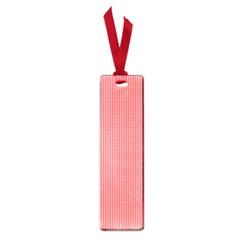 Christmas Red Velvet Mini Gingham Check Plaid Small Book Marks
