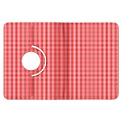 Christmas Red Velvet Mini Gingham Check Plaid Kindle Fire HDX Flip 360 Case