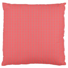 Christmas Red Velvet Mini Gingham Check Plaid Large Flano Cushion Case (Two Sides)