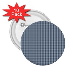 Silent Night Blue Mini Gingham Check Plaid 2.25  Buttons (10 pack)