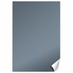 Silent Night Blue Mini Gingham Check Plaid Canvas 20  x 30