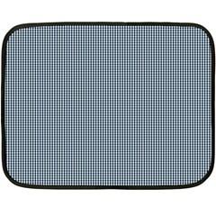 Silent Night Blue Mini Gingham Check Plaid Fleece Blanket (Mini)