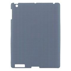 Silent Night Blue Mini Gingham Check Plaid Apple iPad 3/4 Hardshell Case
