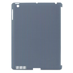 Silent Night Blue Mini Gingham Check Plaid Apple iPad 3/4 Hardshell Case (Compatible with Smart Cover)