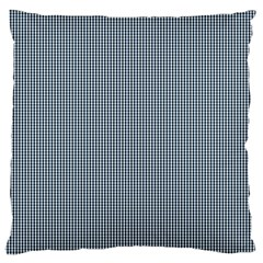 Silent Night Blue Mini Gingham Check Plaid Large Cushion Case (Two Sides)