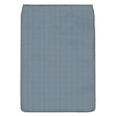 Silent Night Blue Mini Gingham Check Plaid Flap Covers (L)
