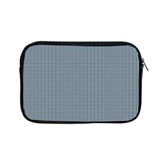 Silent Night Blue Mini Gingham Check Plaid Apple iPad Mini Zipper Cases