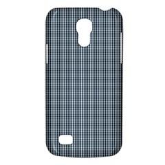 Silent Night Blue Mini Gingham Check Plaid Galaxy S4 Mini