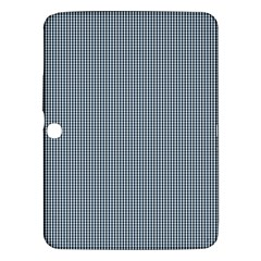 Silent Night Blue Mini Gingham Check Plaid Samsung Galaxy Tab 3 (10.1 ) P5200 Hardshell Case