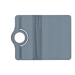Silent Night Blue Mini Gingham Check Plaid Kindle Fire HD (2013) Flip 360 Case