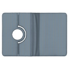 Silent Night Blue Mini Gingham Check Plaid Kindle Fire HDX Flip 360 Case
