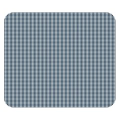 Silent Night Blue Mini Gingham Check Plaid Double Sided Flano Blanket (Small)