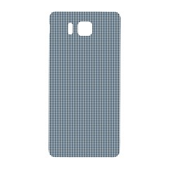 Silent Night Blue Mini Gingham Check Plaid Samsung Galaxy Alpha Hardshell Back Case