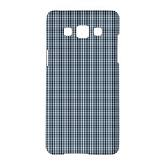 Silent Night Blue Mini Gingham Check Plaid Samsung Galaxy A5 Hardshell Case