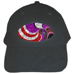 Fractal Art Red Design Pattern Black Cap